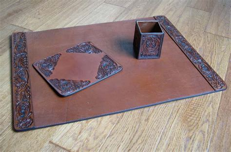 western office desk accessories tooled leather desk set western passion