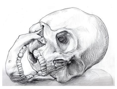 Gothic Skull Drawings Gaping Drawing Skulls