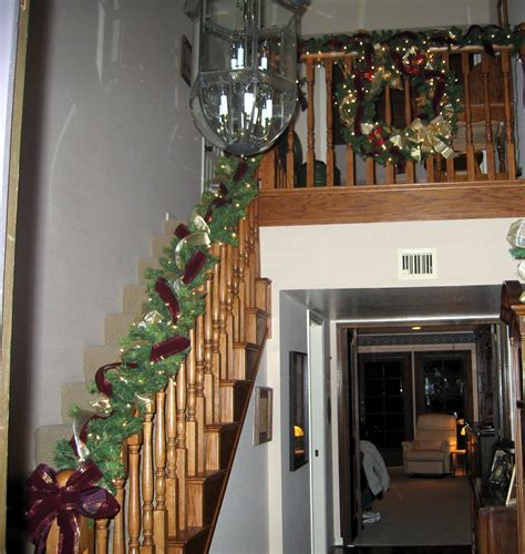 garland staircase decorating indoor