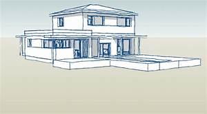 realisations de maisons individuelles d39architecte With plan d une maison en 3d 13 comment dessiner des immeubles en 3d