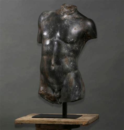 cuisine grecque antique reproduction adaptation bust torso statue hermes
