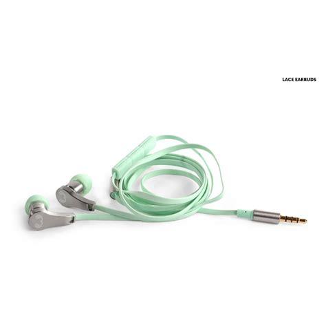 Fresh 'n Rebel Lace Earbuds Headphones, Peppermint Fresh