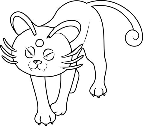 alolan persian pokemon coloring page  printable coloring pages  kids