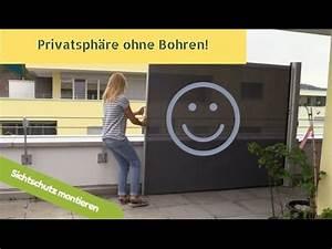Balkonmarkisen Ohne Bohren : sichtschutz ohne bohren sara machts youtube ~ Watch28wear.com Haus und Dekorationen