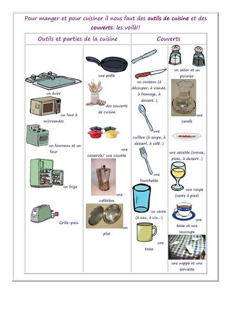 jeux de de cuisine de vocabulaire des aliments de la nourriture et de la