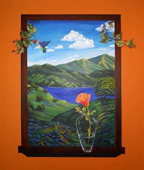 poster mural trompe l oeil trompe l oeil window mural bath