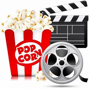 Clipart movies and popcorn