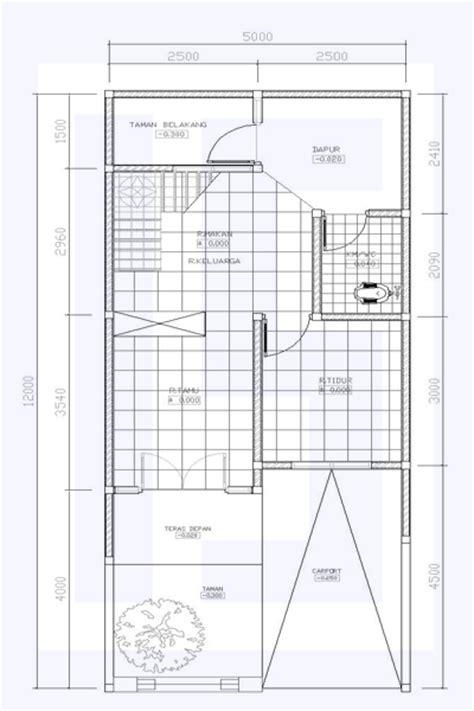 desain denah rumah minimalis ukuran  satu lantai