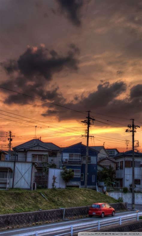 sunset okazaki aichi prefecture japan ultra hd desktop