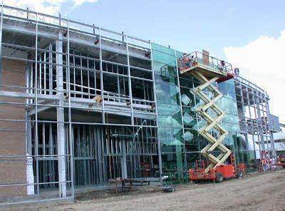 stick built system glass curtain wall installation