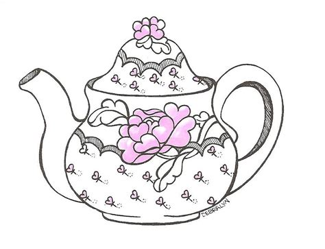 Mothers Day Background Images Teapot Drawing By Debralyn Skidmore