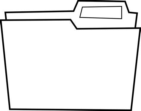 pocket folder clipart black and white clipart dossier folder