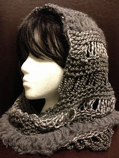 ravelry loom knit  hooded cowl pattern  charity
