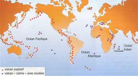 Carte Des Volcans Actifs Dans Le Monde by Cartable Des Sciences De La Vie Et De La Terre