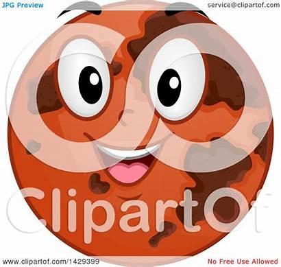 Mars Cartoon Planet Clipart Happy Mascot Illustration