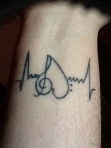 Simple Wrist Heartbeat Music Tattoo For Men - Segerios.com ...