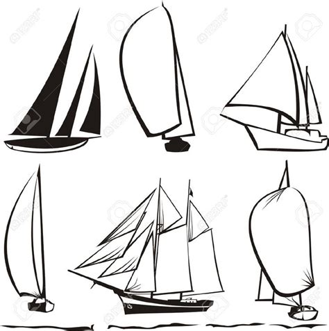 Boat Drawing Lines by Best 25 Sailboat Drawing Ideas On Boat