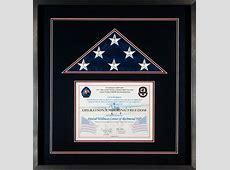 Gallery – Custom Flag Display Case Examples Framed Guidons