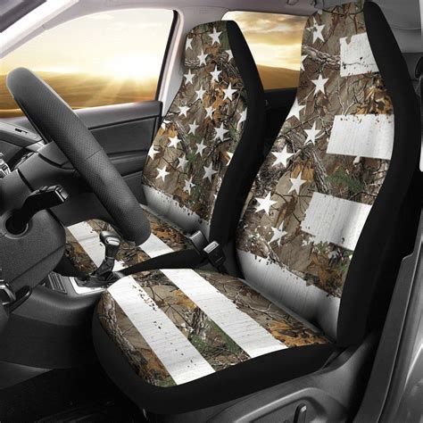 camo american flag seat covers set   gift ideas