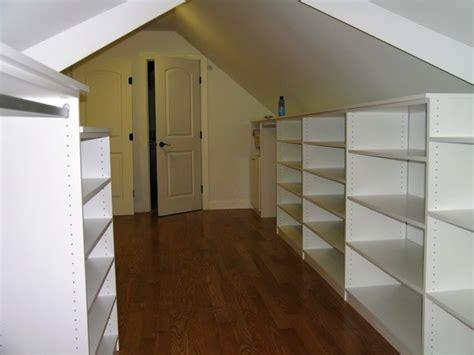 slanted ceiling contemporary closet chicago by
