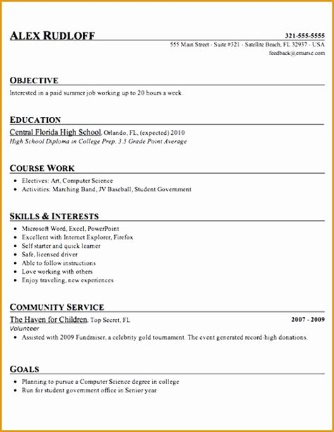 Resume Writing Tips For Highschool Students by 6 High School Student Resume Free Sles Exles