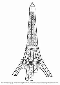 Learn How To Draw Mini Eiffel Tower Wonders Of The World