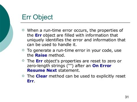Vbscript On Error Resume Next Scope vbscript