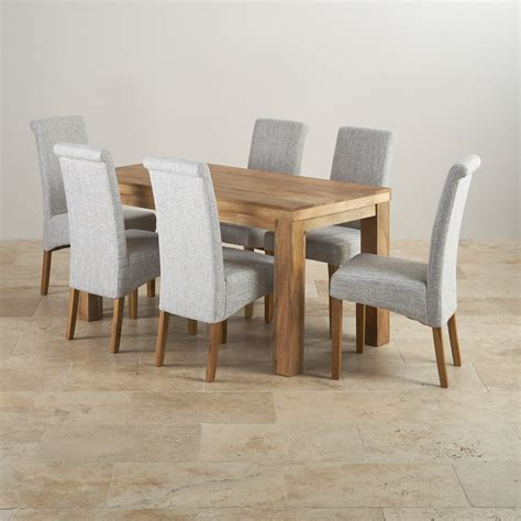 mantis light mango dining set 5ft table with 6 chairs