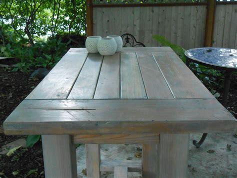 ana white farmhouse table modified    outdoor