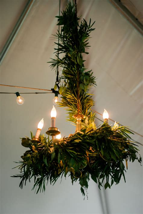 natural eucalyptus greenery covered chandelier