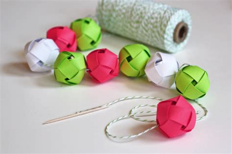 make a garland from woven paper balls how about orange