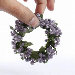 Iced Purple and Lavender Pip Berry Candle Ring - Pip