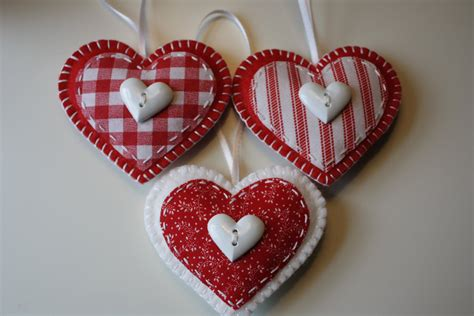 Christmas Felt Heart Ornaments Set Of 3 Fireplace And Mantel Faux Kits Hide Wires Mounted Tv Above Diy Inserts On Same Wall Radiator Nook Gas Ventless