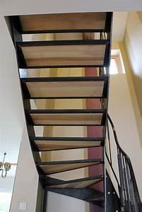 Escalier Metal Et Bois : escalier contemporain m tal bois fr ne olivier ~ Dailycaller-alerts.com Idées de Décoration