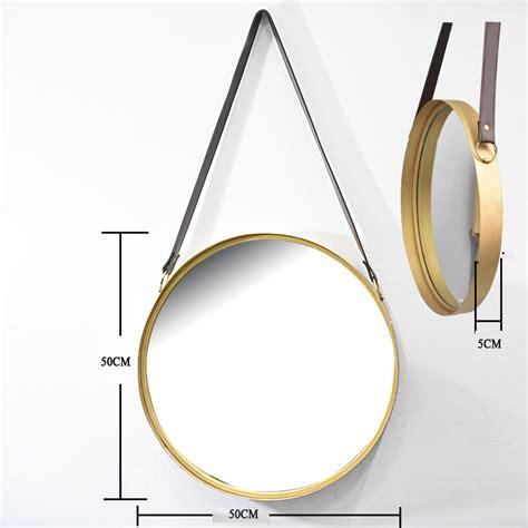 wholesale home decor vintage antique leather strap gold  shape smart metal frame glass