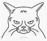 Coloring Cat Grumpy Pngitem sketch template