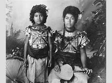 Portrait of Girl and Woman, Samoan Princesses in Native