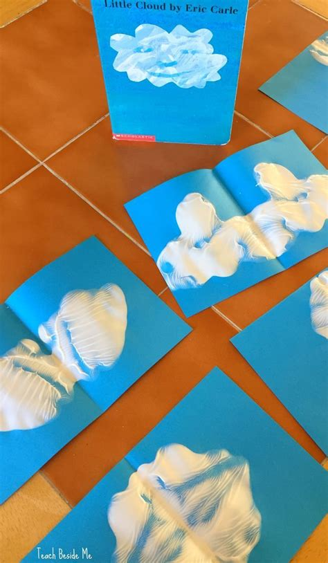 weather art projects for preschoolers ink blot cloud shapes for the eric carle book cloud 801