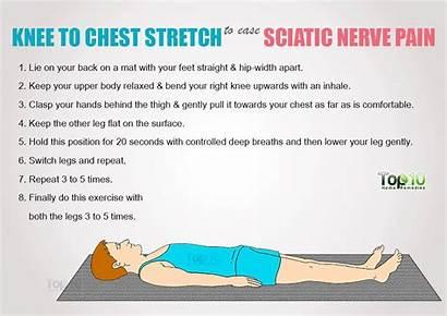 Pain Nerve Sciatica Sciatic Exercises Chest Stretches