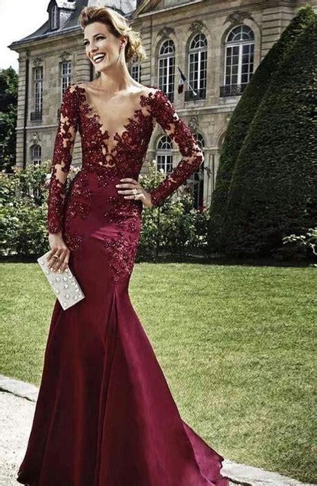 vestidos largos color vino
