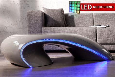 couchtisch mit beleuchtung design couchtisch curve grau mit led beleuchtung blau fiberglas riess ambiente onlineshop