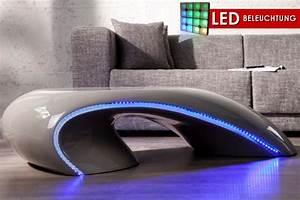 Couchtisch Led Beleuchtung : design couchtisch curve grau mit led beleuchtung blau fiberglas riess ~ Frokenaadalensverden.com Haus und Dekorationen