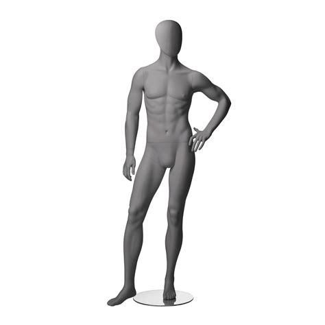 mannequin de vitrine masculin abstraite couleur gris
