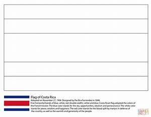 Flag Of Costa Rica Coloring Page Free Printable Coloring