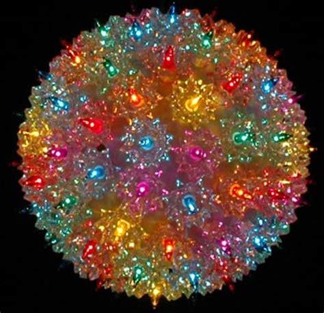 christmas light spheres home depot 7 5 quot starlight sphere 100 light multi christmas lighted ball