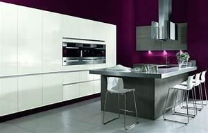 Meuble De Cuisine Blanc Laqué : cuisines design home logistic france ~ Teatrodelosmanantiales.com Idées de Décoration