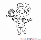 Chef Colouring Printable Coloring Pages Sheet Title Sheets sketch template