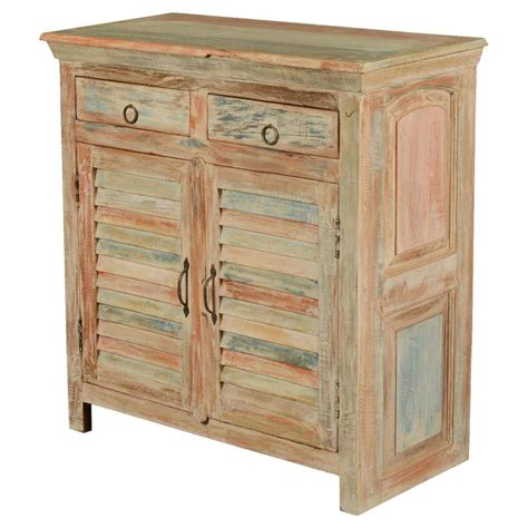 wood storage cabinet deltona reclaimed wood shutter door 2 drawer storage cabinet