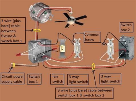 3 way light switch power switch light 3 way fan 1 fan light switched