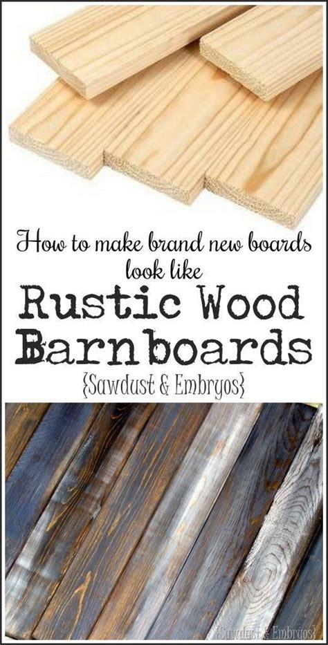 How To Make Your Own 'barn Boards'  Diystyle! Reality